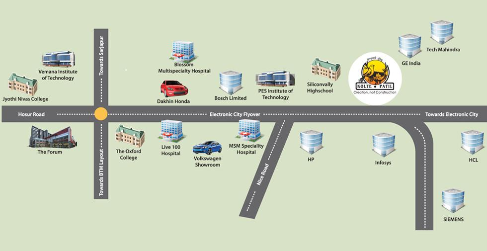 Kolte Patil iTowers Exente Location Map