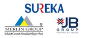 Sureka, Merlin and JB group Logo