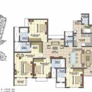 Prestige Song of the South Floor Plan 2462 Sqft. 4 BHK