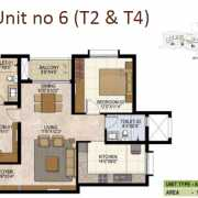 Prestige West Woods Floor Plan 1253 Sqft. 2 BHK