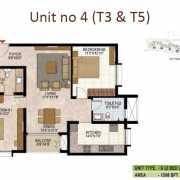 Prestige West Woods Floor Plan 1268 Sqft. 2 BHK