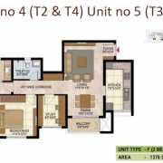 Prestige West Woods Floor Plan 1376 Sqft. 2.5 BHK
