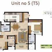 Prestige West Woods Floor Plan 1615 Sqft. 3 BHK