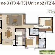 Prestige West Woods Floor Plan 1776 Sqft. 3 BHK
