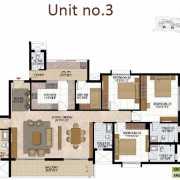 Prestige West Woods Floor Plan 2563 Sqft. 4 BHK