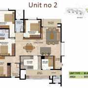 Prestige West Woods Floor Plan 2570 Sqft. 4 BHK
