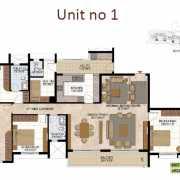 Prestige West Woods Floor Plan 2733 Sqft. 4 BHK