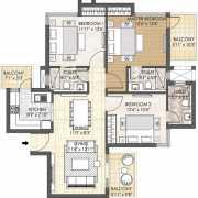 Oyster Grande Floor Plan 1689 Sqft. 3 BHK