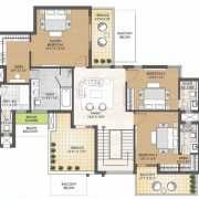 Oyster Grande Floor Plan 5790 Sqft. 5 BHK Penthouse