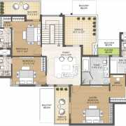 Oyster Grande Floor Plan 5826 Sqft. 5 BHK Penthouse