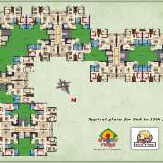 Kolte Patil Raaga Floor Plan 1200 Sqft. 3 BHK Phase-1