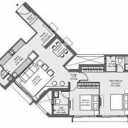 Godrej The Trees Floor Plan 771 Sqft. 2 BHK