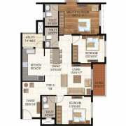 Ajmera Stone Park Floor Plan 1335 Sqft. 3 BHK