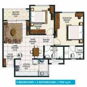 Brigade Buena Vista Floor Plan 1150 Sqft. 2 BHK