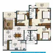 Brigade Buena Vista Floor Plan 1670 Sqft. 3 BHK + 3T