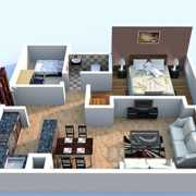 Central Park The Room Floor Plan 1017 Sqft. 1 BHK + Study