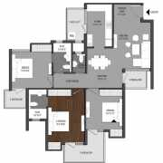 Shri Radha Aqua Gardens Floor Plan 1500 Sqft. 3 BHK