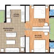 Raheja Maheshwara Floor Plan 1746 Sqft. 3 BHK