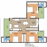 Raheja Maheshwara Floor Plan 2276 Sqft. Penthouse