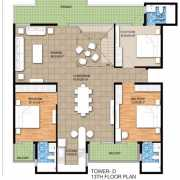 Raheja Maheshwara Floor Plan 3175 Sqft. Penthouse