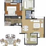 Adani Shantigram Elysium Floor Plan 1427 Sqft. 2.5 BHK