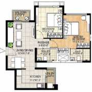 Adani Shantigram The Meadows Floor Plan 1080 Sqft. 2 BHK