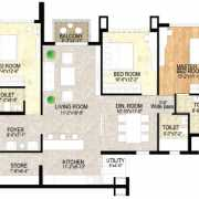 Adani Shantigram The Meadows Floor Plan 1850 Sqft. 3 BHK