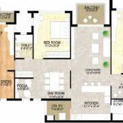 Adani Shantigram The Meadows Floor Plan 2280 Sqft. 3 BHK