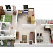 Mahindra Happinest Avadi Floor Plan 447.03 Sqft. 2 BHK - Regular