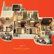 ATS Grandstand Floor Plan 1550 Sqft. 3 BHK