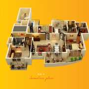 ATS Grandstand Floor Plan 2360 Sqft. 3 BHK