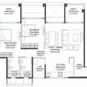 Godrej 24 Floor Plan 902 Sqft. 2BHK (XL)