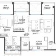 Godrej 24 Floor Plan 902 Sqft. 2BHK (XL)