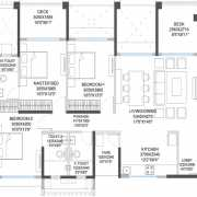 Godrej 24 Floor Plan 1133 Sqft. 3BHK