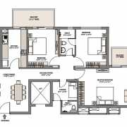 Emaar Palm Gardens Floor Plan 1720 Sqft. 3 BHK+S