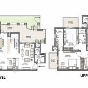 Emaar Palm Gardens Floor Plan 3750 Sqft. 5 BHK Duplex+ PentHouses