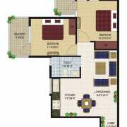 Agrasain Aagman Floor Plan 525 Sqft. 2 BHK
