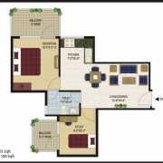 Agrasain Aagman Floor Plan 425 Sqft. 1 BHK+Study