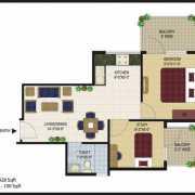 Agrasain Aagman Floor Plan 428 Sqft. 1 BHK+Study