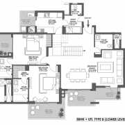 Godrej Meridien Floor Plan On Request 5 BHK - PH.