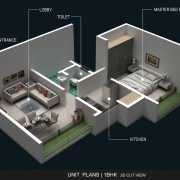 AND Agasan Floor Plan On Request 1 BHK (SUNFLOWER)
