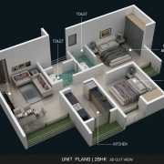 AND Agasan Floor Plan On Request 2 BHK (SUNFLOWER)