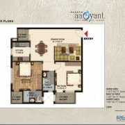 Paarth Aadyant Floor Plan 1213 Sqft. 2 BHK+2T