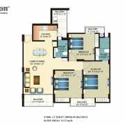 Horizon Anant Floor Plan 1473 Sqft. 3 BHK