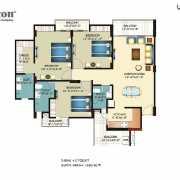 Horizon Anant Floor Plan 1650 Sqft. 3 BHK