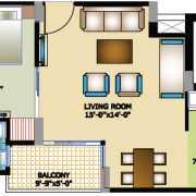 Horizon Anant Floor Plan 645 Sqft. 1 BHK