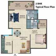 Conscient Habitat 78 Floor Plan 486 Sqft. 2 BHK