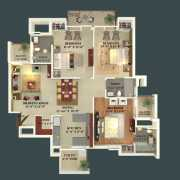 GBP Athens Floor Plan 1468 Sqft. 3 BHK