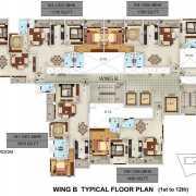 Mantri Serene Chennai Floor Plan 1735 Sqft. 3 BHK