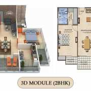 Vilasa Taruchaya Residency Floor Plan 1377 Sqft. 2 BHK
